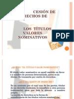Cesion Derechos Titulos Nominativos