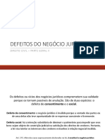 Slides - DEFEITOS DO NEGÓCIO JURÍDICO