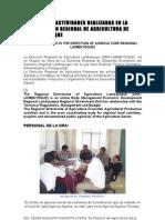 MIS ACTIVIDADES REALIZADAS EN LA DIRECCION REGIONAL DE AGRICULTURA DE LAMBAYEQUE