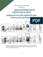 LA DEMANDA DE RENDICION DE CUENTAS EN EL PERU  (Historia de una mala experiencia para la democracia participativa)