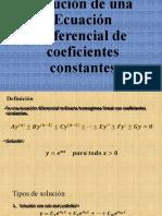 ecuación de coeficientes constantes
