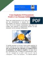 Como Implantar El Pensamiento Positivo Con Mensajes Subliminales