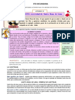 SESIÓN APRENDIZAJE 5T0 GRADO DE SECUNDARIA FICHA 18