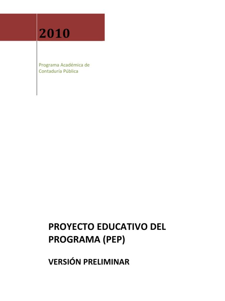 Proyecto Educativo del Programa de contaduria publica de la ...