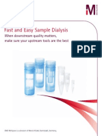 Fast and Easy Sample Dialysis for Buffer Exchange, Sample Desalting or Sample Concentration