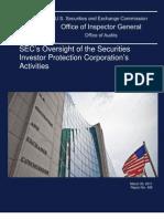 SEC's IG Report No. 495 on SIPC