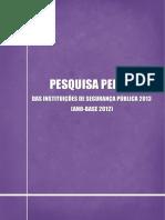 Pesquisa Perfil 2013 Ano Base 2012