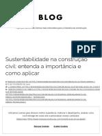 A Importância da Sustentabilidade na Construção Civil