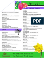 April 2011 Special Events