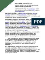 Vaccinurile pe bază de ARN mesager împotriva COVID