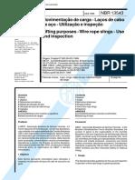 NBR 13543 - Movimentacao de carga - Lacos de cabo de aco - Utilizacao e inspecao