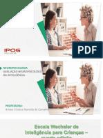 Aula WISC-IV - IPOG - Alunos
