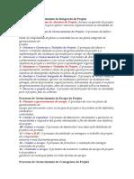Processos de Gerenciamento Da Integração Do Projeto