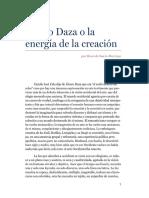 Alvaro Daza o la energía de la creación - Ricardo Sanín Restrepo