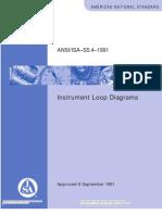 ISA 5.4 Diagramas y lazos de Instrumentación.