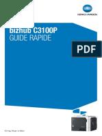 Bizhub c3100p Quick Guide Fr 2 1 1