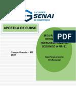 APOSTILA SEG. NA OP. DE RETRO SEGUNDO A NR-11 Renato