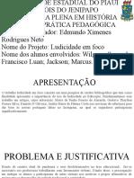 SLIDE I GRUPO LUDICO EM FOCO