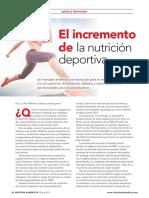 El incremento de la nutrición deportiva
