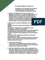 Guía de Estudio Sistema Endocrino