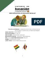 EXPERIENCIA TRANSFORMADORA ASCENSO 2021 COMUNICACIÓN Y LENGUAJES primaria