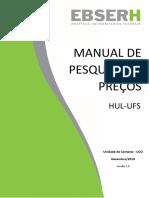 MANUAL PESQUISA DE PREÇOS HUL EBSERH