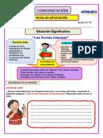 Ficha de Aplicación de Comunicación 16 de Agosto