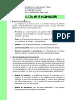 ÁMBITO LEGAL DE LA DISTRIBUCIÓN