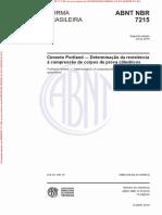 NBR7215 - Resistência à Compressão Simples