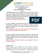 Teoria da norma Penal - Gabarito Exercícios aula 1