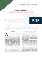 Quimica Forense Papel e Desafios