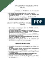 EJERCICIOS DE APLICACIÓN PARA CONTABILIZAR