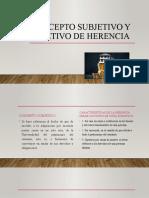Concepto Subjetivo y Objetivo de Herencia