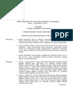 Permenhut No 02-Menhut-II-2010 tentang Sistem Informasi Kehutanan