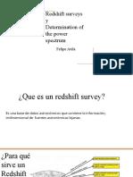 Redshift surveys y Determination of the power spectrum