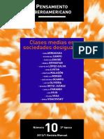 Grynspan Rebeca Y Paramio Ludolfo - Clases Medias En Sociedades Desiguales
