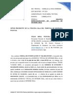 SOLICITA REPROGRAMACIÓN DE AUDIENCIA DE INFORME ORAL