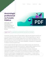 Ética e Deontologia Profissional Na Função Pública