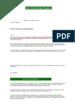 INternship report on SBL