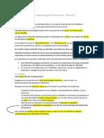 Segundo Parcial - Ética y Deontología Profesional