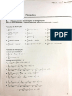 Fórmulas de Derivação e Integração