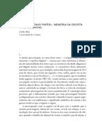 MEMÓRIA DA ESCRITA NA IDADE DIGITAL