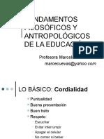 1. Introduccion Fundamentos Filosoficos y Antropologicos