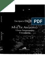 Mal de arquivo - DERRIDA by DERRIDA (z-lib.org)