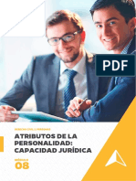 Atributos de La Personalidad Capacidad Jurídica - Sem 9