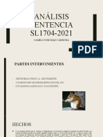 Análisis sentencia sl1704-2021