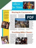 Sims Family Newsletter Jan-Mar 2011