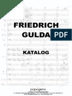 Gulda catalogue