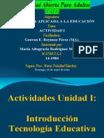María Altagracia Rodríguez Martínez-ACTIVIDAD I-TECNOLOGÍA APLICADA A LA EDUCACIÓN