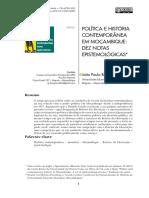 Política e história em Mocambique